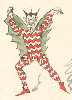 Flip - Early 20th Century Watercolour, Demon Costume Design (20th Century Costume Designer)
