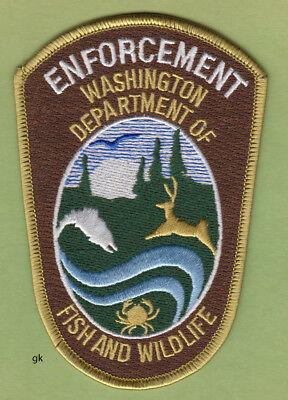 WASHINGTON  STATE DEPT. OF FISH & WILDLIFE POLICE POLICE  PATCH brown variation