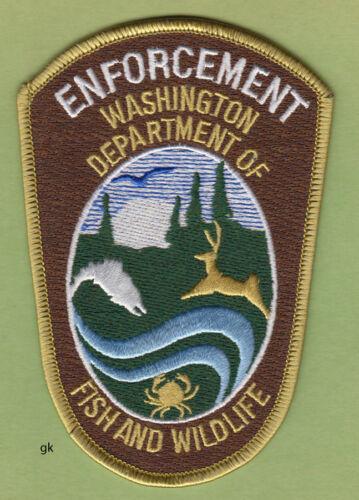 WASHINGTON  STATE DEPT. OF FISH & WILDLIFE POLICE  SHOULDER  PATCH  brown