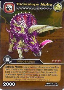 Carte dinosaur king attaque alpha triceratops alpha dkaa 015 100 holo - Carte dinosaure king ...