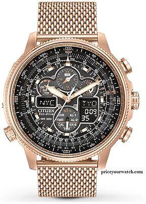 Citizen JY8033-51E Men's Navihawk A-T Rose Gold Tone Perpetual Calendar Watch