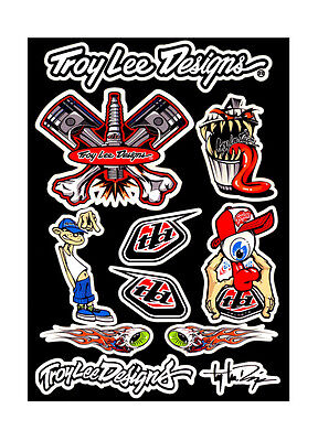 Troy Lee Designs Motocross Bumper Decal Sticker Set