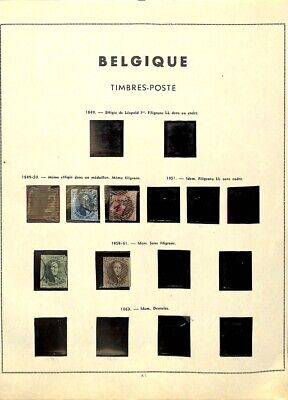 [OP7740] Belgium lot of stamps on 12 pages