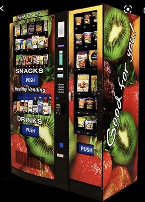 Healthy You Seaga Hy2100 Combo Soda Snack Vending Machine Entree Barely Used