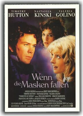 WENN DIE MASKEN FALLEN ♦ 1990 ♦ CINEMA Filmkarte Sammelkarte ♦ Nastassja Kinski (Die Masken Film)