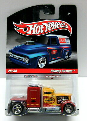 Hot Wheels Delivery Series Pennzoil Convoy Custom Yellow & Red Real Riders