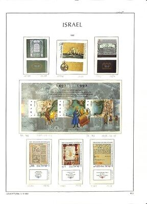[OP7697] Israel lot of very fine MNH stamps on 11 pages
