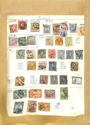 [OP8003] Portugal lot of stamps on 12 pages