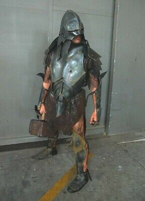 Lord Of The Rings Uruk Hai Orc Armor Prop Medieval Halloween Costume Not Foam!