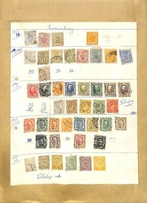 [OP7904] Luxembourg lot of stamps on 12 pages