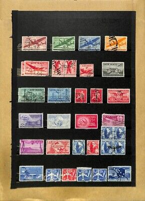[OP7786] USA lot of stamps on 12 pages