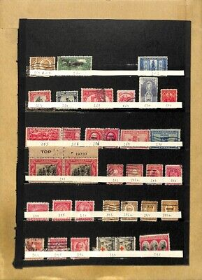 [OP7787] USA lot of stamps on 12 pages