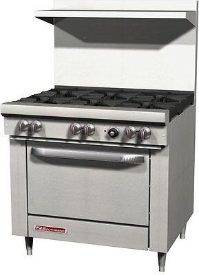 Southbend S36d 36 Gas 6 Burner Restaurant Range W Std Oven 6 Legs