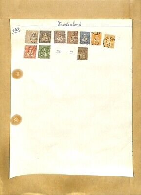 [OP7923] Switzerland lot of stamps on 12 pages
