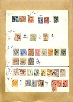 [OP7909] Netherlands lot of stamps on 12 pages