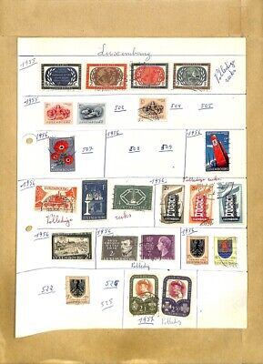 [OP7905] Luxembourg lot of stamps on 12 pages