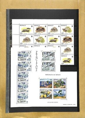 [OP7854] Monaco lot of stamps on 10 pages