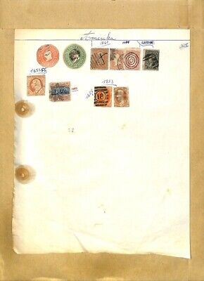 [OP7889] USA lot of stamps on 12 pages