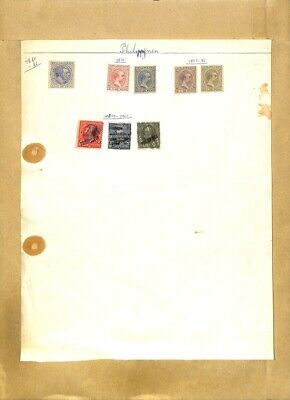 [OP7971] Philippines lot of stamps on 12 pages