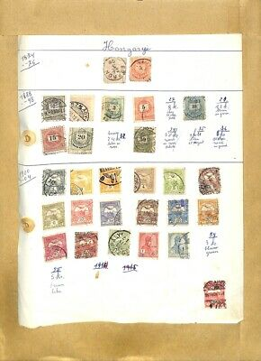 [OP7927] Hungary lot of stamps on 12 pages