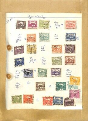 [OP7894] Czechoslovakia lot of stamps on 12 pages
