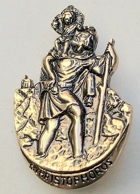 Vintage 1950s St Christopher Brooch..To Help You on Your Way....