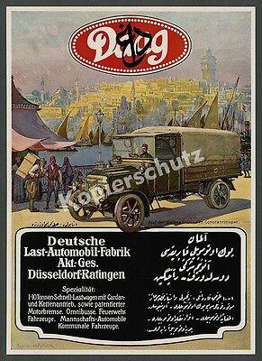 Daag Lkw-Fabrik Düsseldorf Ratingen Auto Militär Türkei Istanbul Osmanen 1916