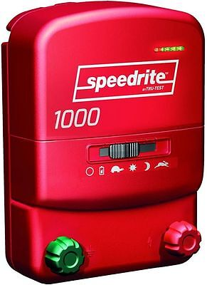 Speedrite 1000 Ac Or Dc Dual Powered Electric Fence Charger 10m40a Free Tester