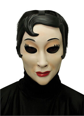 EMO GIRL PLASTIC FACE MASK HALLOWEEN COSTUME MR031315