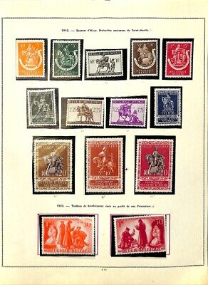 [OP7743] Belgium lot of stamps on 12 pages