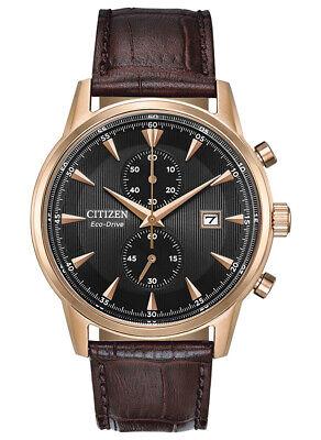 Citizen Eco-Drive Men's Chronograph Rose Gold Tone  43mm Wrist Watch CA7003-06E