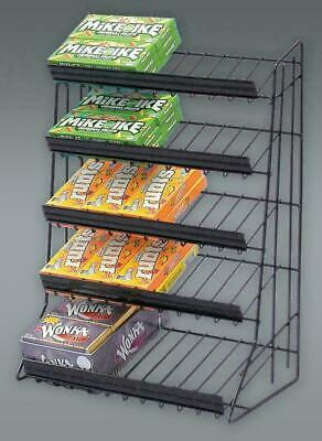 5 Tier Counter Top Gum Candy Display Rack - Black