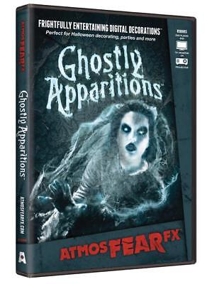 Halloween Prop - ATMOSFEARFX Ghostly Apparition DVD TV or window projection NEW