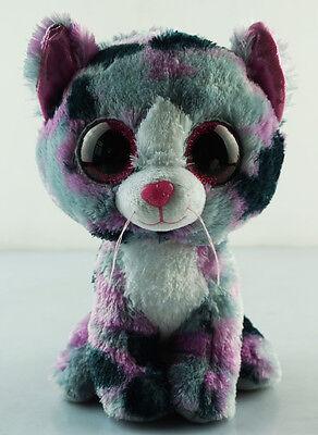 8 5  Ty Beanie Boos No Tag Animal Lindi Cat Glitter Eyes Plush Stuffed Toys