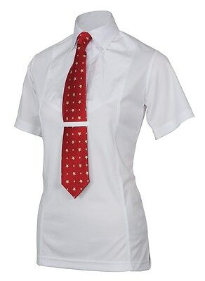Childrens Short Sleeve Shirt - Horse Riding - WHITE - Small (7-8 years) - Shires