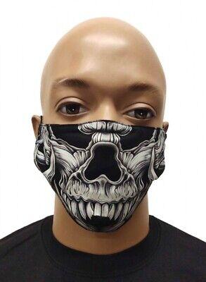 Maske Mundschutz Atemschutz Gesichtsschutz Skull Totenkopf Glow In The Dark 3D