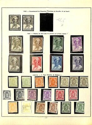 [OP7742] Belgium lot of stamps on 12 pages