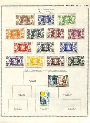 [OP7644] French Colonies lot of stamps on 12 pages