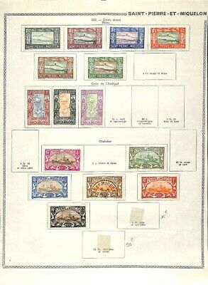 [OP7635] French Colonies lot of stamps on 12 pages