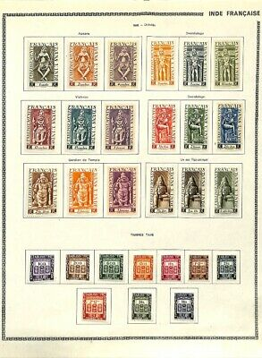 [OP7648] French Colonies lot of stamps on 12 pages