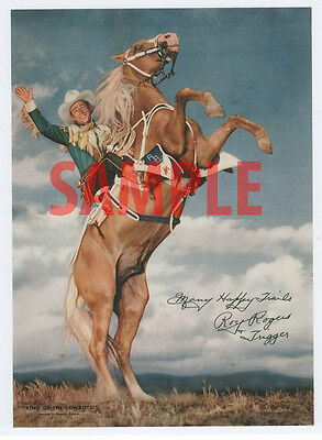 Roy Rogers and Trigger Autographed 8X10 Color Reprint Photo