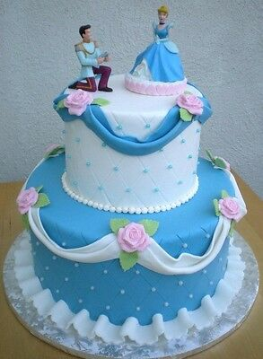 DecoPac Disney Cinderella & Prince Charming Cake Figures Wedding Birthday Party](Disney Prince Party)