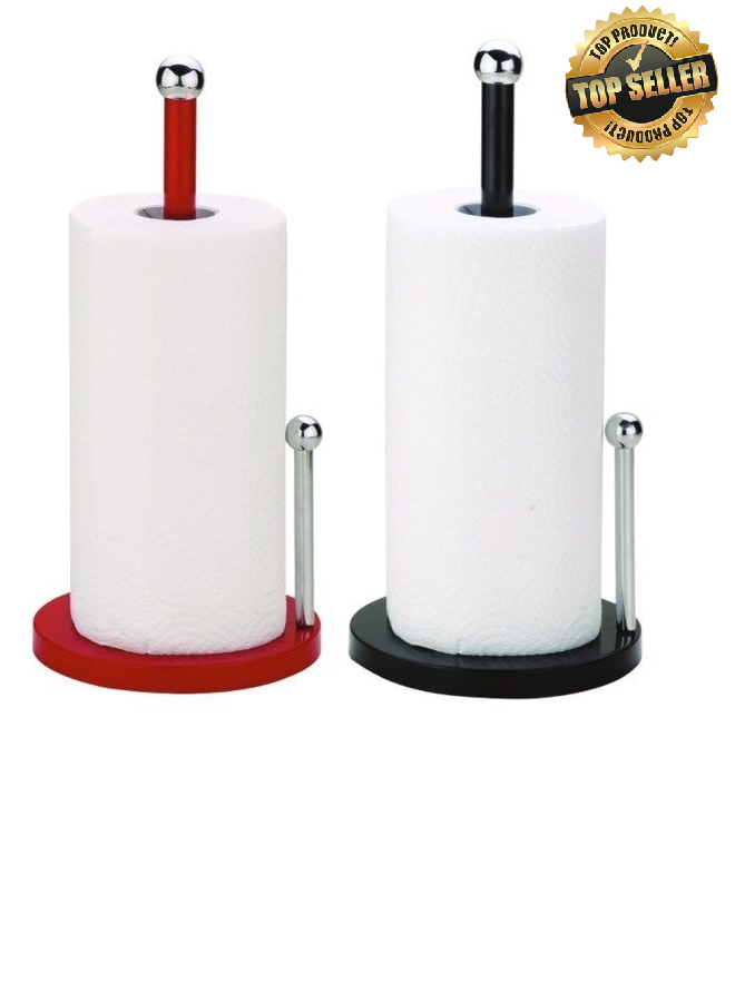 New Paper Towel Holder Stand Up Metal Sturdy Kitchen Counter