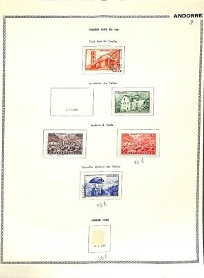 [OP7628] Andorra lot of stamps on 8 pages