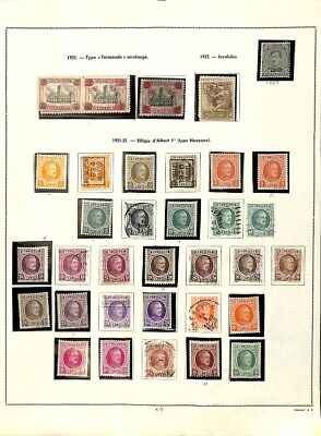 [OP7741] Belgium lot of stamps on 12 pages