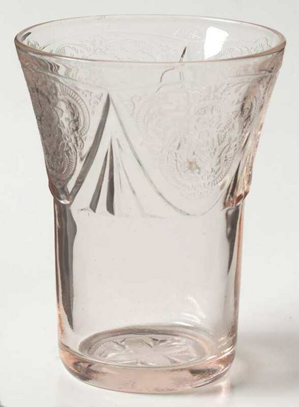 Hazel-Atlas Royal Lace Pink 5 Oz Tumbler 1784478