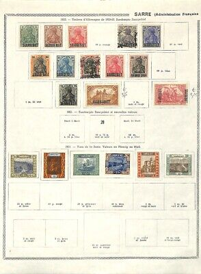 [OP7636] French Colonies lot of stamps on 12 pages