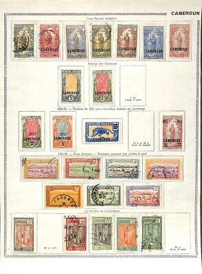 [OP7624] Cameroon lot of stamps on 12 pages