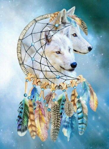 Please Read Dream Catcher White Wolf Dreams 8.5x11 Matte Art For Framing