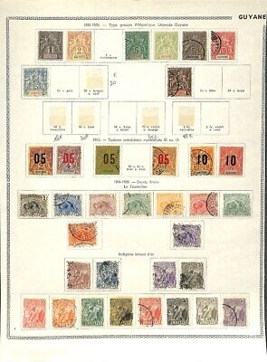 [OP7646] French Colonies lot of stamps on 12 pages